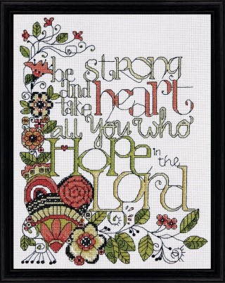 click here to view larger image of Be Strong (counted cross stitch kit)