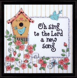 click here to view larger image of New Song, A (counted cross stitch kit)