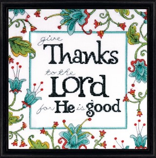 click here to view larger image of Give Thanks (counted cross stitch kit)