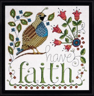 click here to view larger image of Have Faith (counted cross stitch kit)