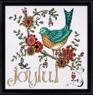 click here to view larger image of Be Joyful (counted cross stitch kit)