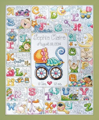 click here to view larger image of Baby ABC (counted cross stitch kit)