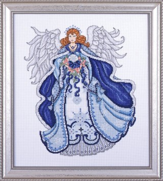 click here to view larger image of Angel of Snow (counted cross stitch kit)