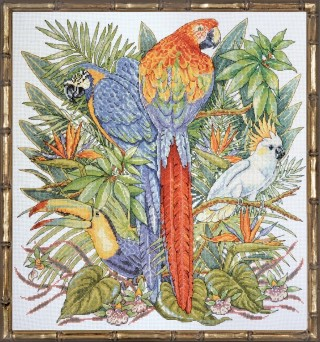 click here to view larger image of Birds of Paradise (counted cross stitch kit)