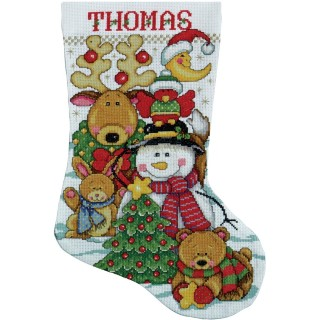 click here to view larger image of Making New Friends Stocking (counted cross stitch kit)