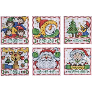 click here to view larger image of Holiday Tags (counted cross stitch kit)