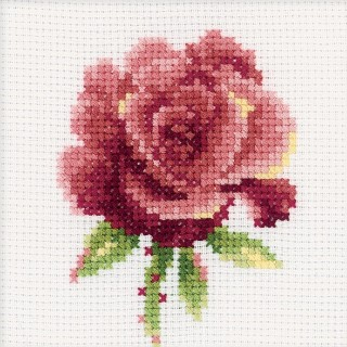 click here to view larger image of Red Rose (counted cross stitch kit)