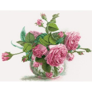 click here to view larger image of Romantic Roses (counted cross stitch kit)