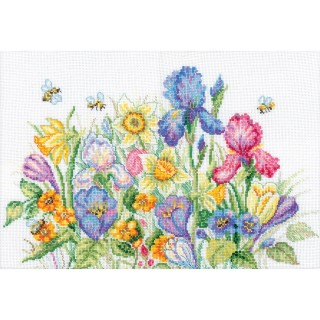 click here to view larger image of Garden Flowers (counted cross stitch kit)