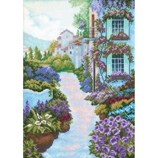 click here to view larger image of Blooming Town (counted cross stitch kit)