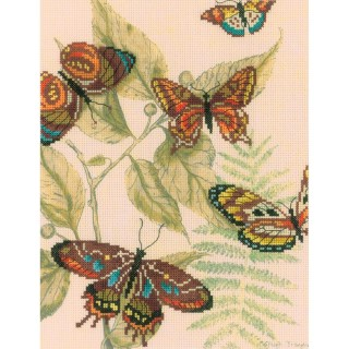 click here to view larger image of Butterfly Kingdom I (counted cross stitch kit)