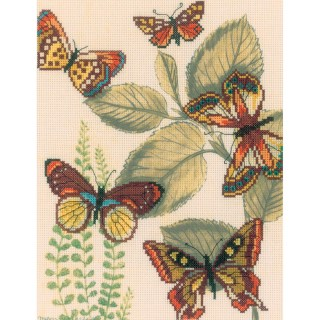 click here to view larger image of Butterfly Kingdom II (counted cross stitch kit)
