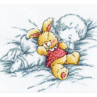 click here to view larger image of Baby With Rabbit  (counted cross stitch kit)
