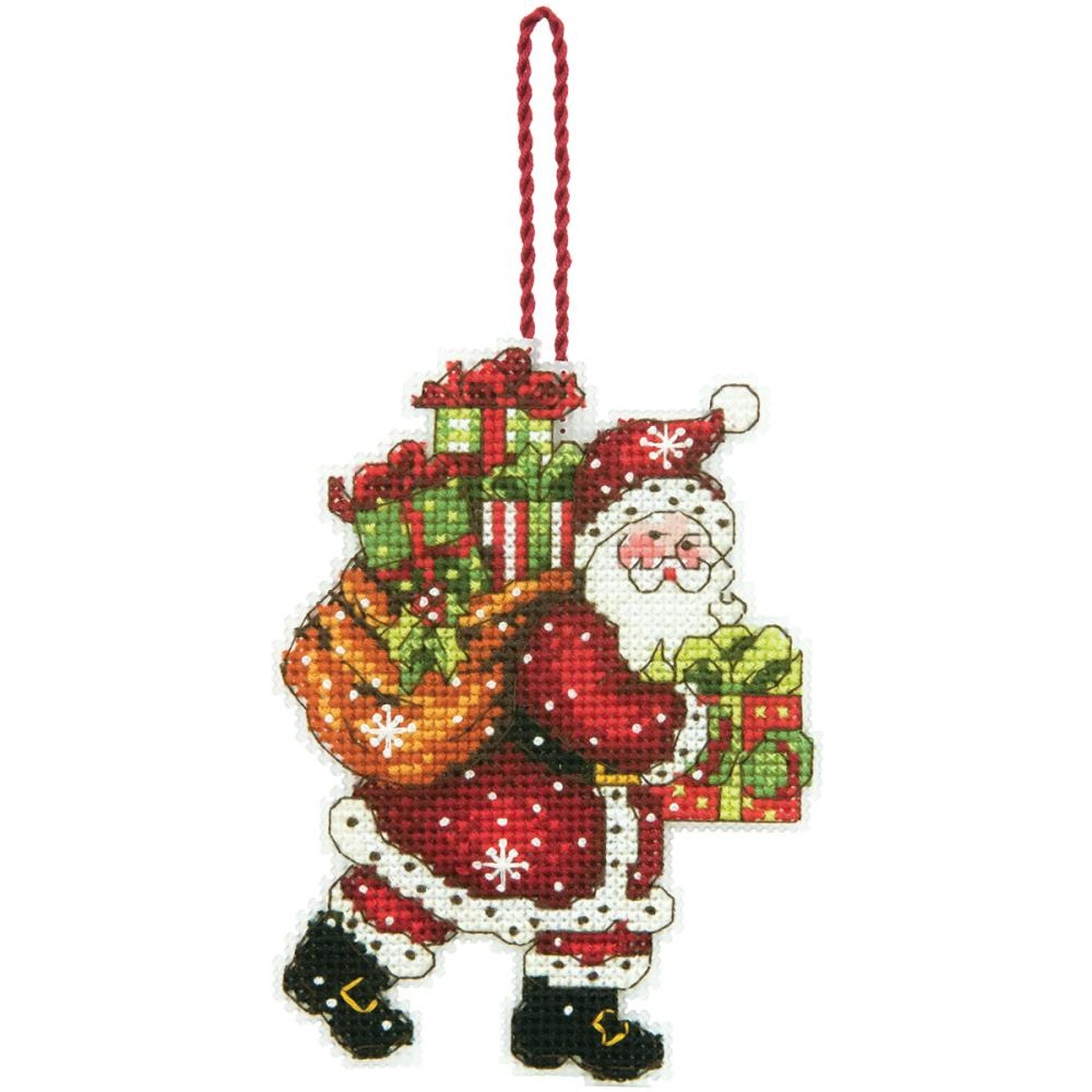 click here to view larger image of Santa with Bag Ornament (counted cross stitch kit)