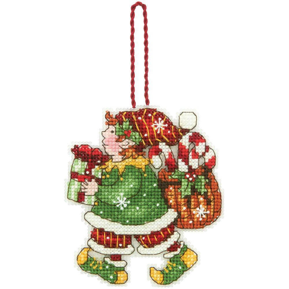 click here to view larger image of Elf Ornament (counted cross stitch kit)