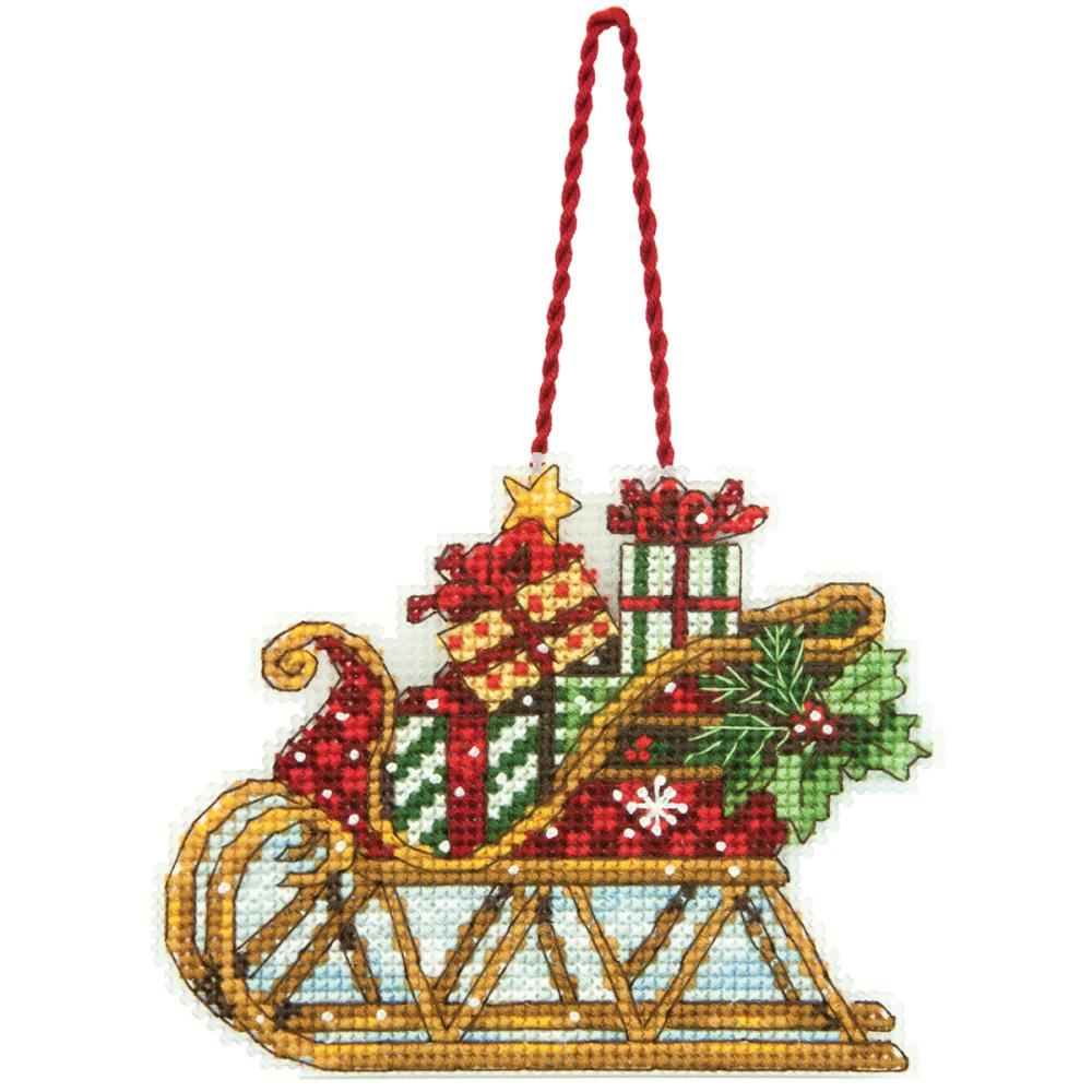 click here to view larger image of Sleigh Ornament (counted cross stitch kit)