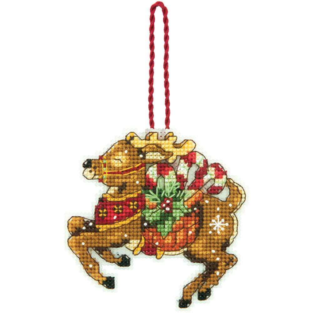 click here to view larger image of Reindeer Ornament - Susan Winget (counted cross stitch kit)