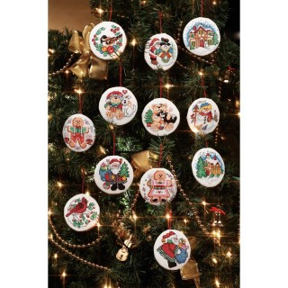 click here to view larger image of Holiday Favorites Ornaments (counted cross stitch kit)