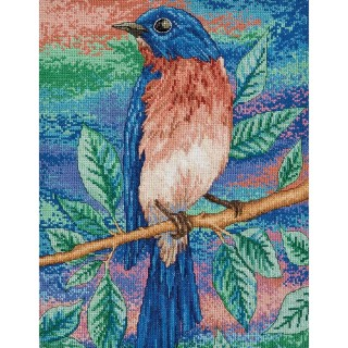 click here to view larger image of Blue Bird (counted cross stitch kit)