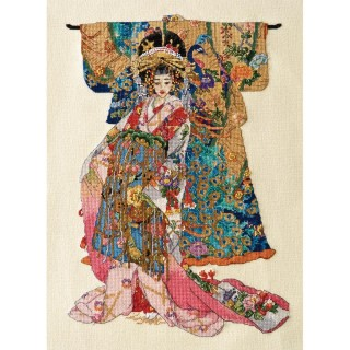 click here to view larger image of Kimono Geisha (counted cross stitch kit)