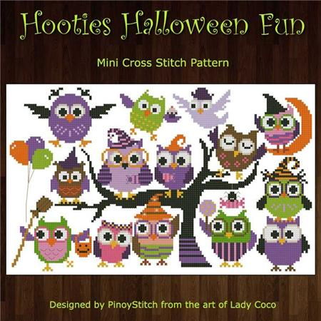 click here to view larger image of Hooties Halloween Fun (chart)