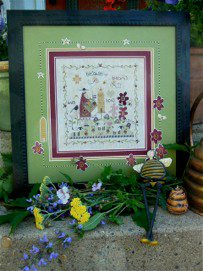 click here to view larger image of Bee Blessings (counted cross stitch kit)