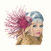 click here to view larger image of Fleur (Miniature Elegance) (counted cross stitch kit)