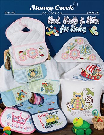 click here to view larger image of Bed, Bath and Bibs for Baby (chart)