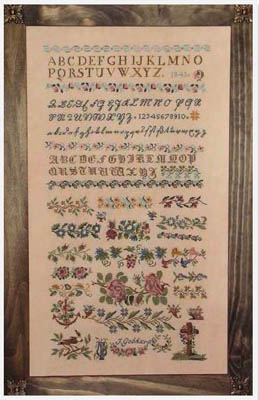 click here to view larger image of J Gebhard 1841 Sampler (chart)
