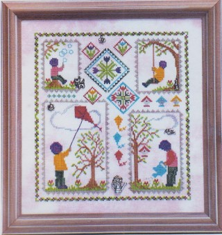 click here to view larger image of Spring Quilt (chart with charms/buttons)