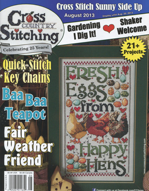 click here to view larger image of Cross Country Stitching - August 2013 (magazines)