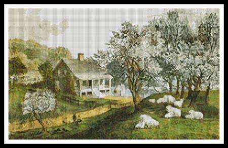 click here to view larger image of American Homestead in Spring (chart)