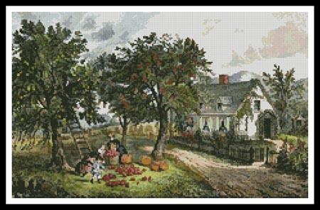 click here to view larger image of American Homestead in Autumn (chart)