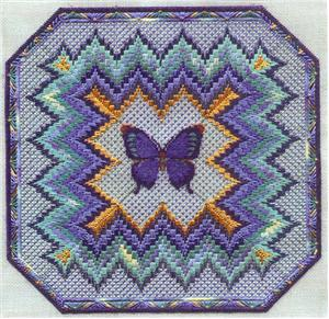 click here to view larger image of Bargello and Butterfly (counted canvas chart)