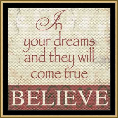 click here to view larger image of Believe In.... (chart)