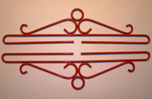 click here to view larger image of Wrought Iron Bellpull - Red Finish (accessory)