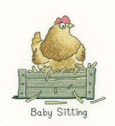 click here to view larger image of Baby Sitting (counted cross stitch kit)