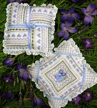 click here to view larger image of French Lavender Pillows (chart)