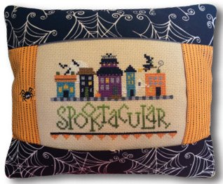 click here to view larger image of Spooktacular Medium Pillow Kit (counted cross stitch kit)
