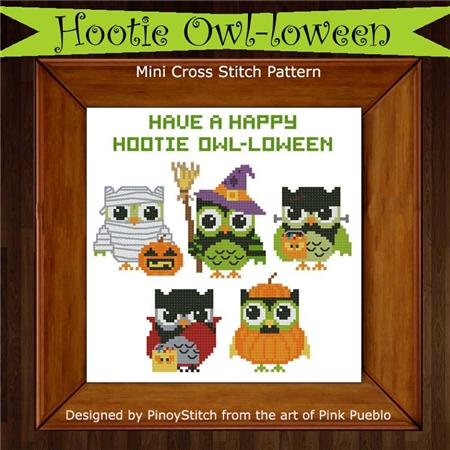 click here to view larger image of Hootie Owl-loween (Halloween) (chart)