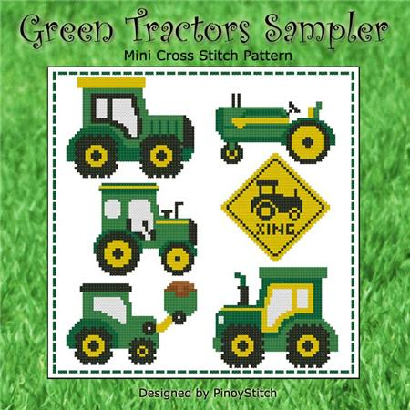 click here to view larger image of Green Tractors Sampler (chart)