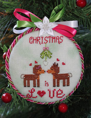 click here to view larger image of Christmas Is Love (Ornament 2) (chart with charms/buttons)