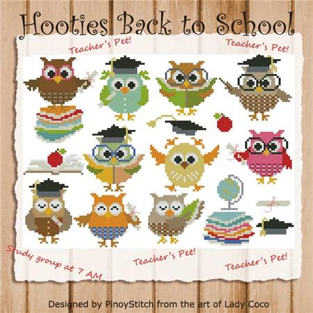 click here to view larger image of Hooties Back to School (chart)
