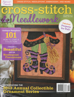 click here to view larger image of Cross Stitch & Needlework Magazine - September 2013 (magazines)