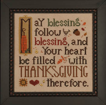click here to view larger image of Thanksgiving Blessing (w/emb) (chart)