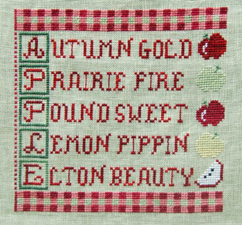 click here to view larger image of Apples and Gingham (chart)