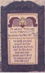 click here to view larger image of Prudence Wilcome Tombstone Angel (chart)
