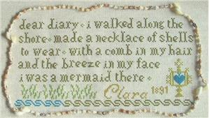 click here to view larger image of Claras Mermaid Sampler 1891 (chart)