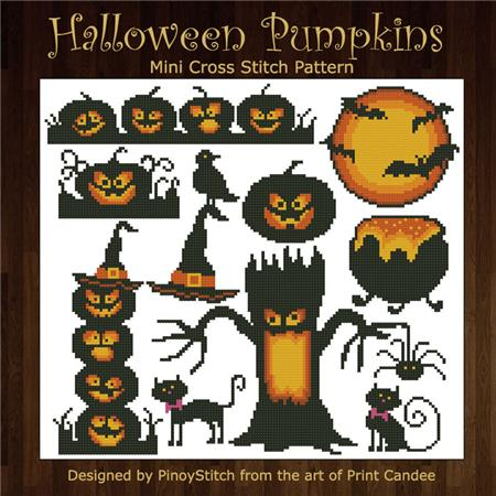 click here to view larger image of Halloween Pumpkins Silhouettes (chart)
