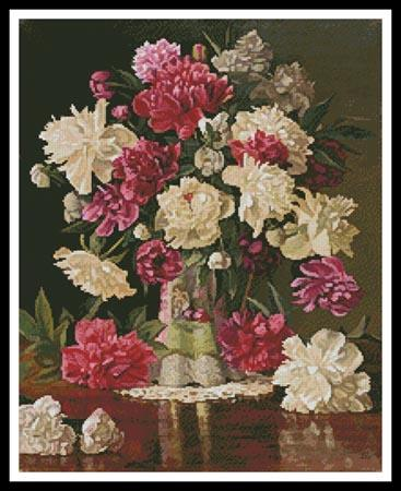 click here to view larger image of Peonies  (Christopher Pierce) (chart)